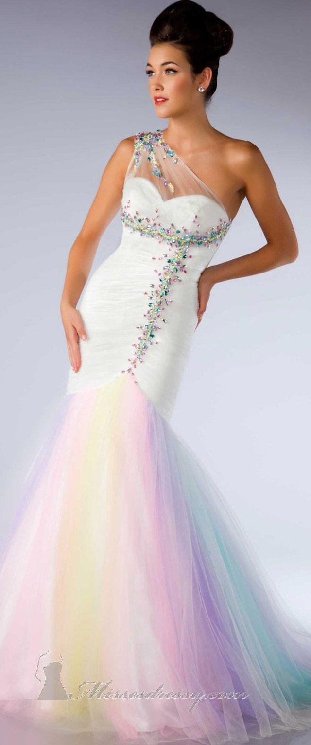 to wear - Rainbow neon prom dresses video