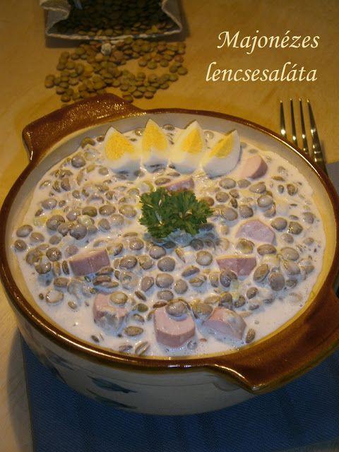 Hozzávalók: 30 dkg lencse só, babérlevél, petrezselyemzöld 1 csomó újhagyma 6 evőkanál majonéz 6 evőkanál tejföl mustár, citro...