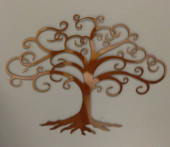 "Tree of Life industrial metal wall art in caramel copper color 24"" on Etsy, $49.00"