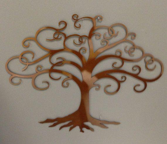 Tree of Life industrial metal wall art heat tinted by alkemymetal