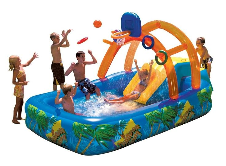Water Slide Swimming Pool Inflatable Kids Playground Toy