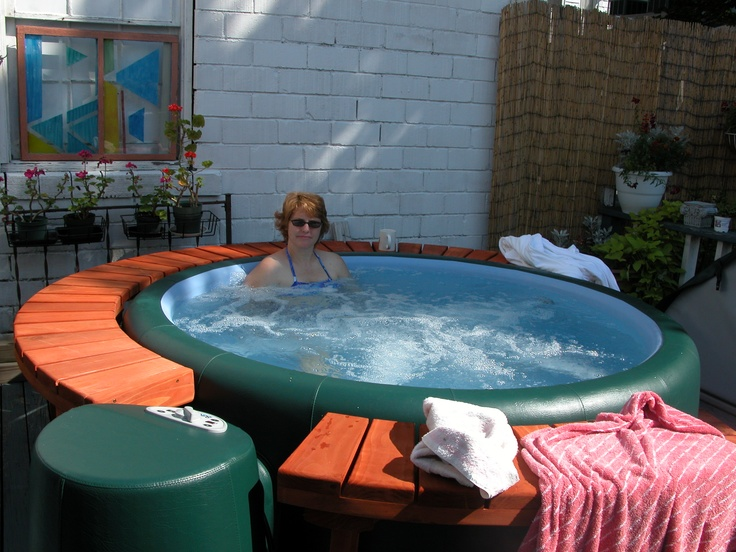 softub portable hot tub with surround