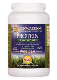 Sun Warrior, Warrior Blend, Raw Vegan Protein, with Complete Amino Acid Profile | Gluten Free, Soy Free, Dairy Free, Hypoallergenic | 100 calories (15 from fat), and 19 grams of protein