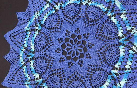 Navy-blue crochet doily by NatureAnesthesia on Etsy