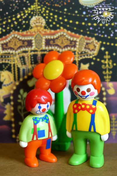 Clown father and son