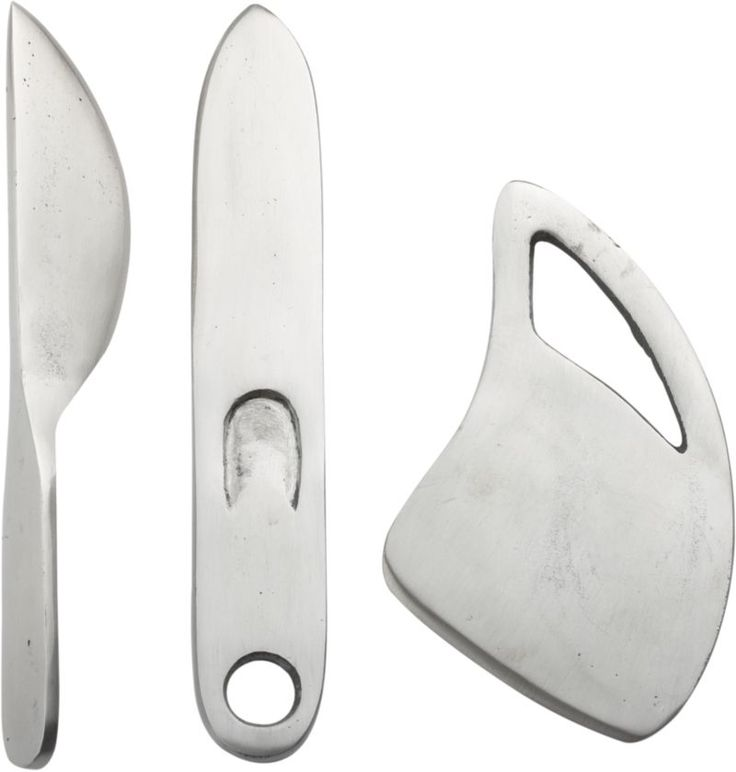 3-Piece Farmhouse Cast Iron Cheese Knife Set  | Crate and Barrel --Everyone needs a beautiful cheese knife set.--aw--