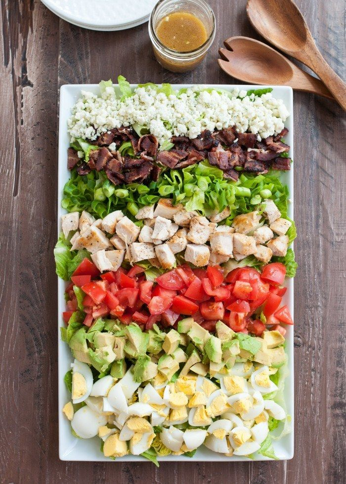 Cobb Salad with homemade red wine vinegrette dressing