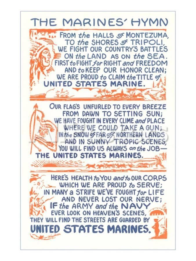 'Words to Marines Hymn' Art in 2020