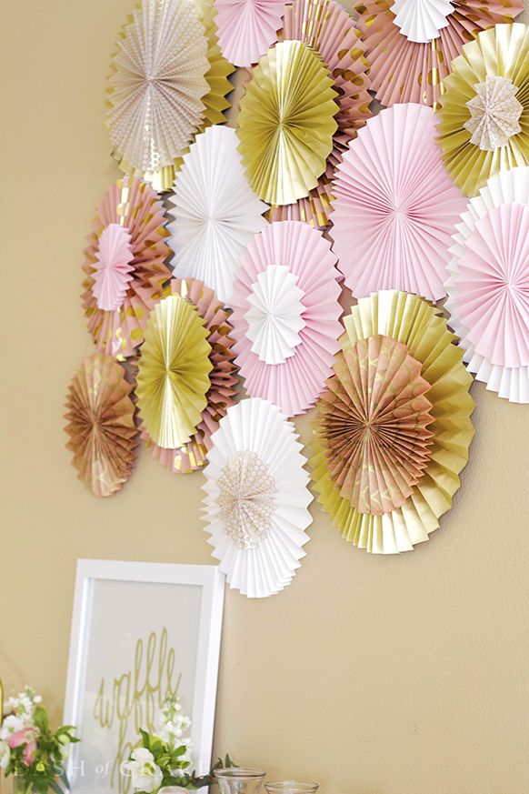 Paper Fan and Paper Rosette DIY 354