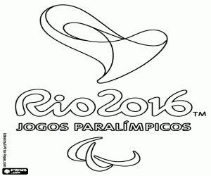 Colorear Logo Juegos Paralimpicos Rio 2016