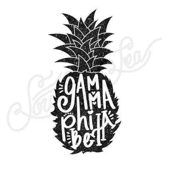 Sorority Social Gamma Phi Beta Pineapple Vintage South By Sea