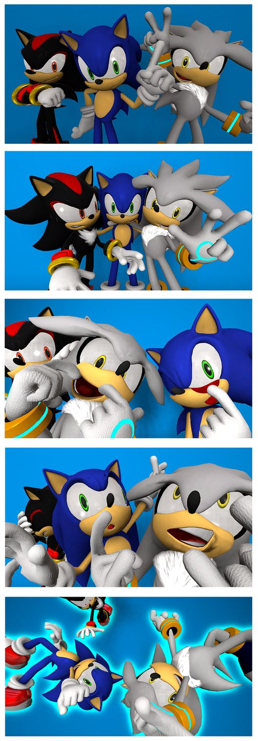 Sonic the Hedgehog, Silver the Hedgehog, and Shadow found a photo booth... And take some HILARIOUS pictures! (Fan-made, not official or canon) I LOVE Shadow's reactions!
