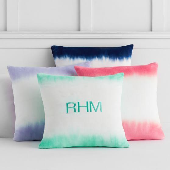 Dip Dye Monogram Pillow Covers