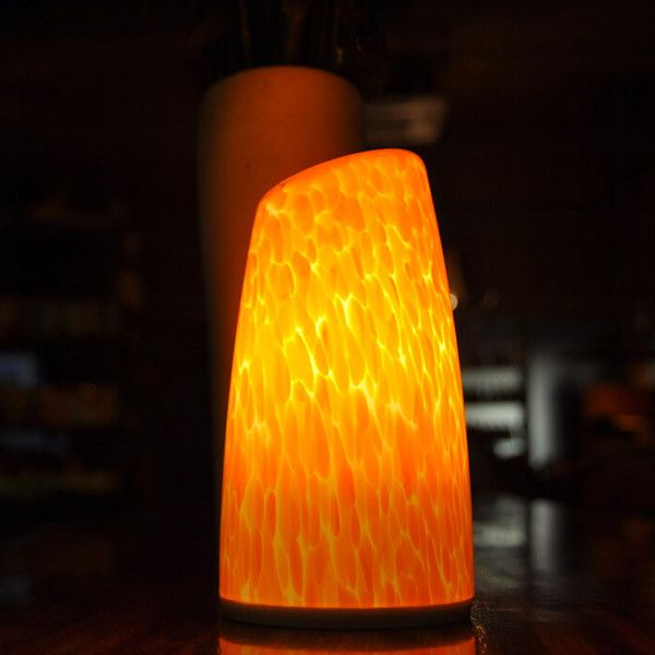 CITRINE EDGE A Smart Phone Controlled Wireless Battery Powered Table Lamp  That Can Be Placed Anywhere