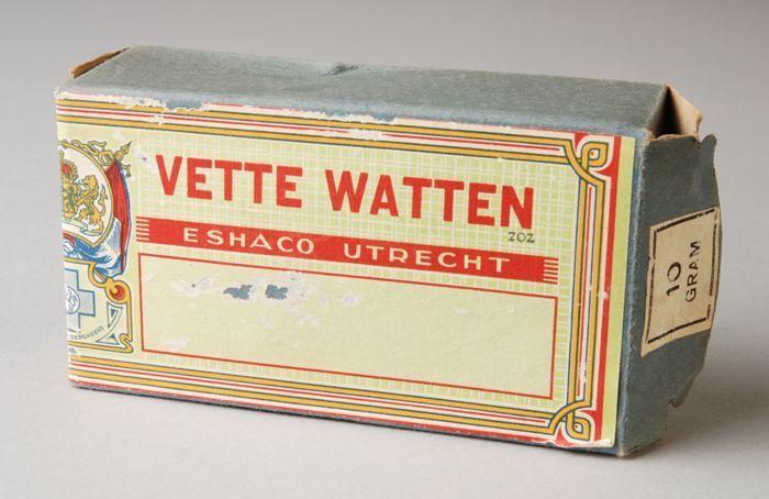 Doos met vette watten, Eshaco Utrecht
