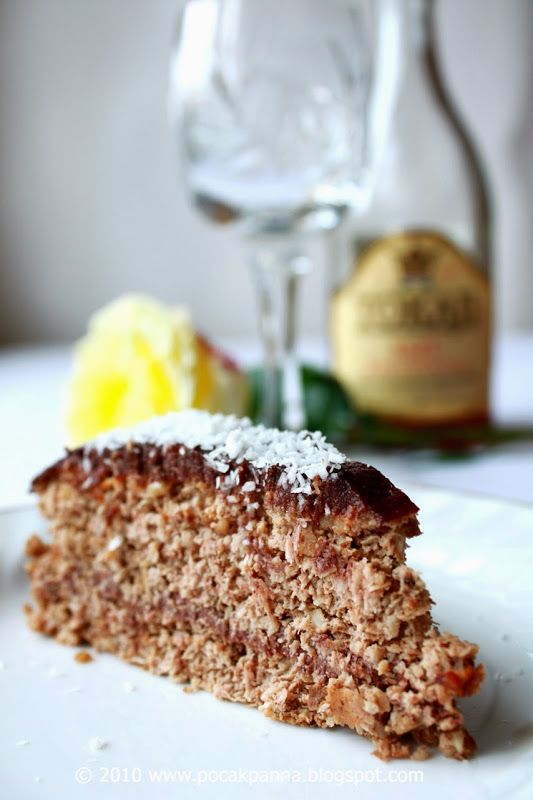 Pocak Panna paleo konyhája: Kókuszos diótorta, csokoládé krémmel: mert minden ...