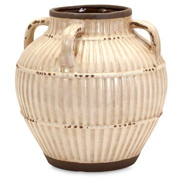 """Check out this item at One Kings Lane! 14"""" Myla Urn, White"""