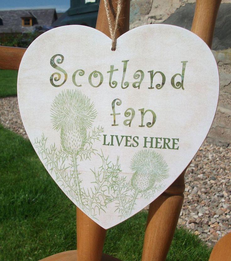 Scotland fan lives here, Scottish, Scot, HANDMADE plaque, gift idea, home decor