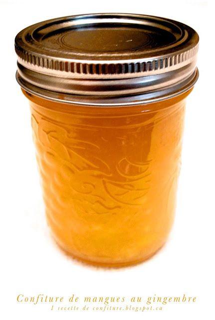Bonjour, aujourd'hui je partage avec vous une confiture de mangue aromatisée au gingembre et au citron.