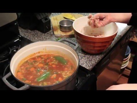 Mexican Albondigas Soup (Meatball Soup) and the Bella Ceramic Skillet - YouTube