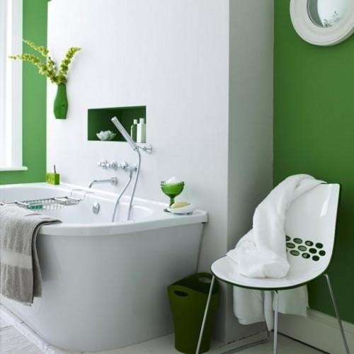 design tips #TheInteriorCollectiveBathroom Design, Bathroom Colors, Bathroom Interior, Green Wall, Interiors Design, Green Bathroom, Bathroom Ideas, White Bathroom, Bathroom Decor