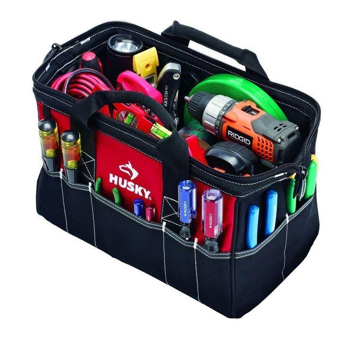 15 in Tool Bag Storage Tote Organizer HeavyDuty Handyman Contractor Bag Portable #Husky