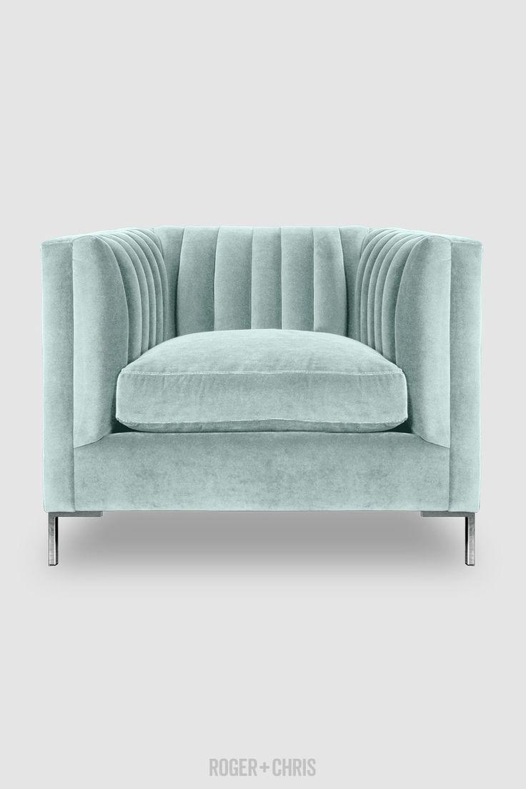 soft green armchair