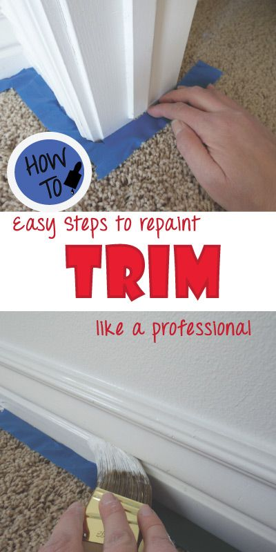 How to repaint trim like a pro