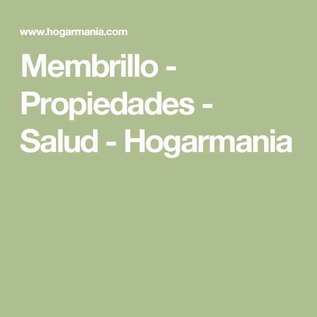 Membrillo - Propiedades - Salud - Hogarmania