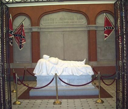Grave of Robert E. Lee at the Lee Chapel in Lexington, VA.