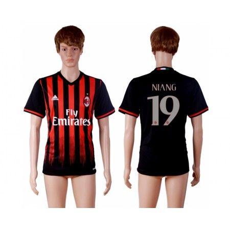 AC Milan 16-17 #Niang 19 Hemmatröja Kortärmad,259,28KR,shirtshopservice@gmail.com
