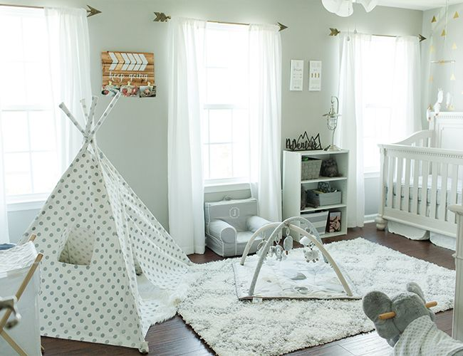 The adventure themed nursery is becoming a popular trend for baby boys, and we always love seeing how parents reinvent it for their own newborn!