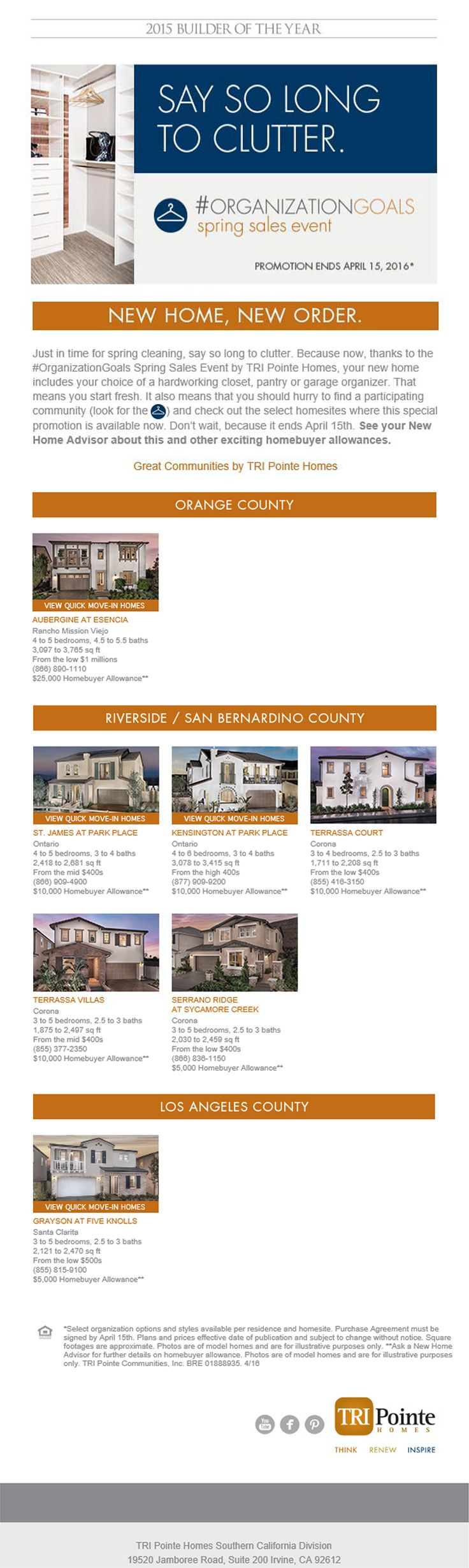 New Homes for Sale in Southern California New Home  New Order    OrganizationGoals Spring. Best 25  New homes for sale ideas on Pinterest   House plans for