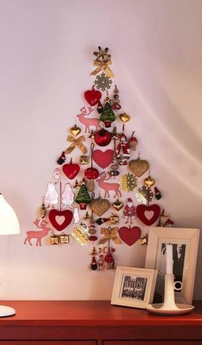 Love this idea .... Decoration make the Christmas tree !!!