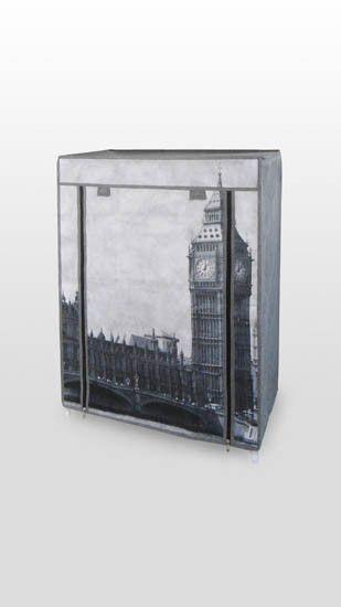 4 polcos, mobilszekrény London nyomattal