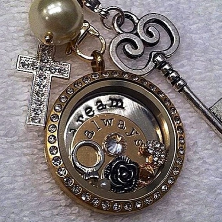 Origami Owl Living Lockets - Silver & Gold 'dream always' Love it, want it, order it here: www.glitzylocket.origamiowl.com Kim Parsons Independent Designer 27972