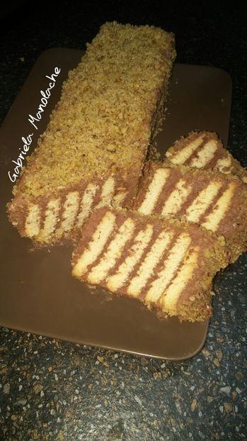 Prajitura cu biscuiti si crema de cacao - gabrielamanolache