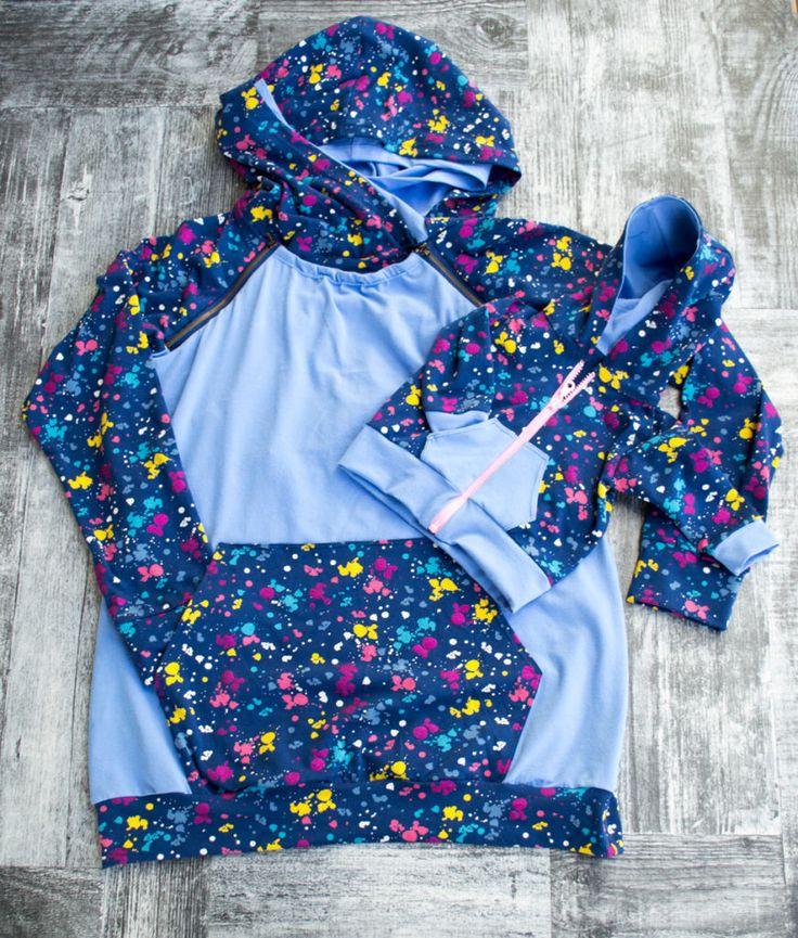 Nursing Hoodie for mom and front zipper hoodie for baby set #handmadeclothes #sewingforkids #mommyandcute #babyandmamoutfit #nursinghoodie #sewingforaliving #lovemywork #nursingtami #newhorizons #tamirevolution