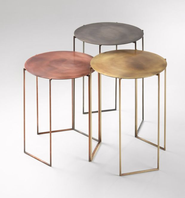 Exceptional Tribù Coffee Tables By Michela U0026 Paolo Baldessari In A Trilogy Of Metal  Colors  Brass (yellow), Copper (Rose) And Steel (white).