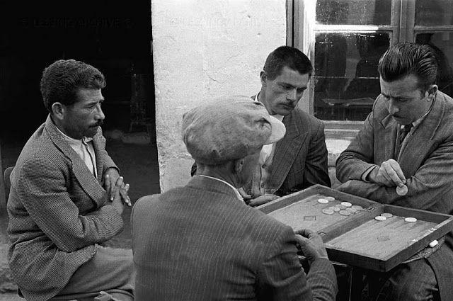 Μια παρτίδα τάβλι στο Λασίθι-Κρήτη 1955