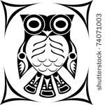 Tribal Spirit Owl Tattoo Design