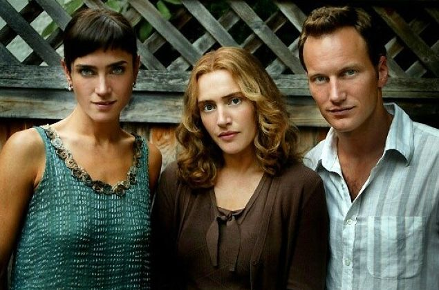 """Jennifer Connelly, Kate Winslet, and Patrick Wilson in a publicity photo for """"Little Children"""" (2006)."""