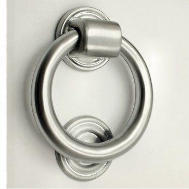Ring Door Knocker - Satin Chrome - The Brassware Company - Architectural Ironmongery