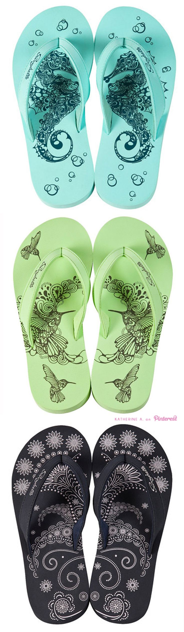 Sunnybelle Flip Flops! I love those green ones, I would love those for March!