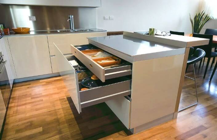 Рабочая поверхность - бар на кухне фото