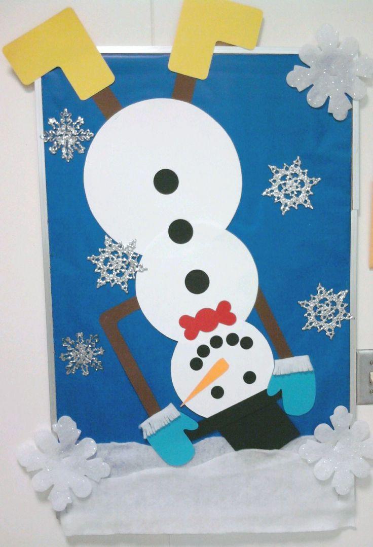 winter bulletin board idea for winter journal