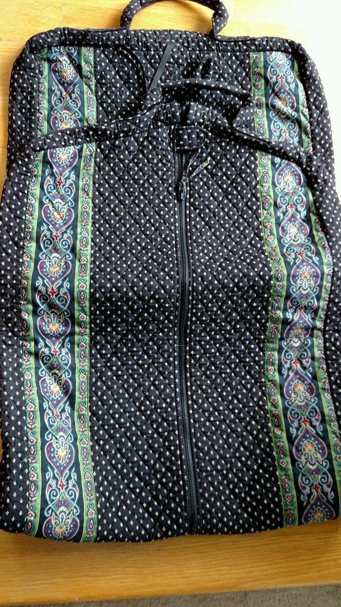 Vintage Vera Bradley Garment Bag Black Mint | eBay