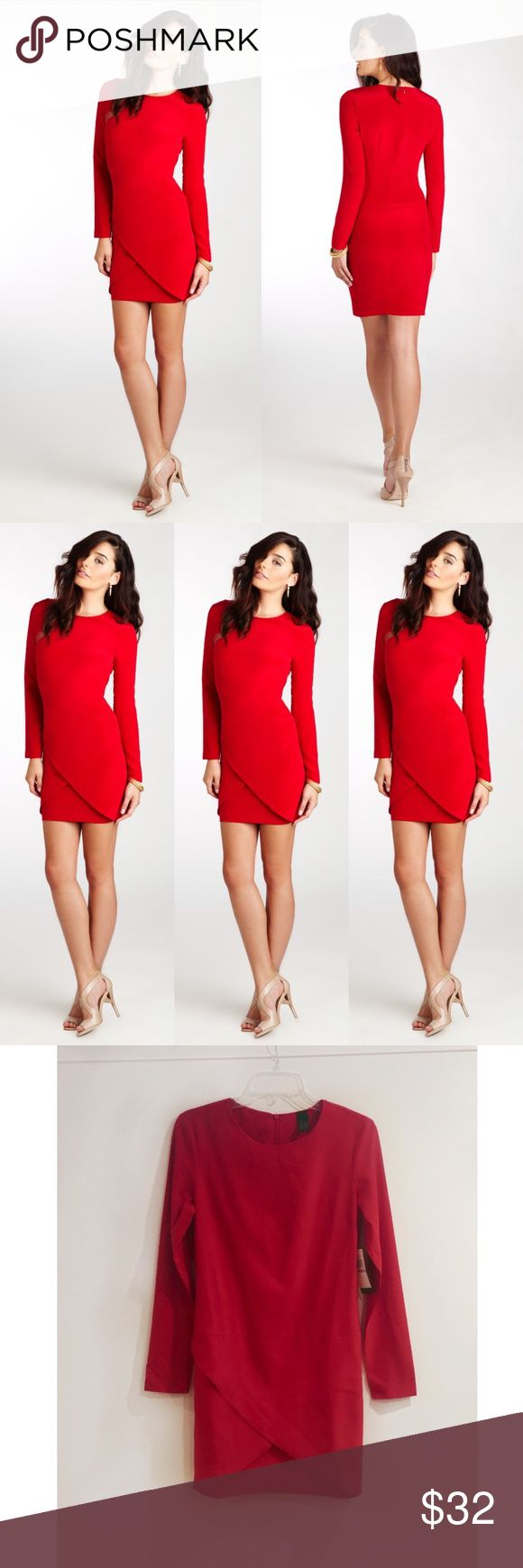 NWT Red Tulip Hem Long Sleeved Sexy Mini Dress Brand-new with tags! Label by Five Twelve by ECI. Red Tulip Hem Long Sleeved Sexy Mini Dress. AVAILABLE IN SIZES 4,6,8. Features a back zip and hits above the knee. 95/5 poly/spandex. You want this dress perfect for girls night out or date night. 15% off when you buy 3 or more items from my closet. Label by 512 Dresses Mini
