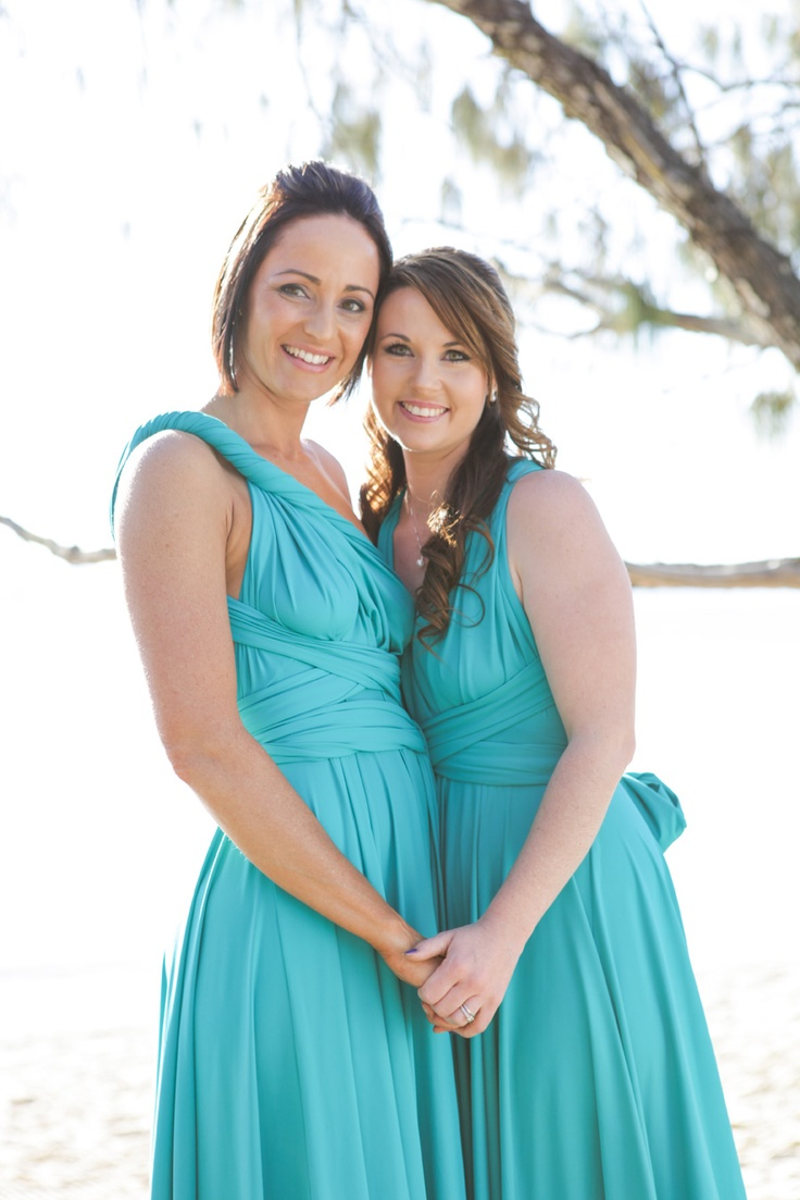 Jade Green Convertible Bridesmaid Dress by http://www.lucyandloo.com.au     Wrap and Twist these Convertible Dresses into over 50 different styles. Match your bridesmaids.. or let them style differently to suit their shape.