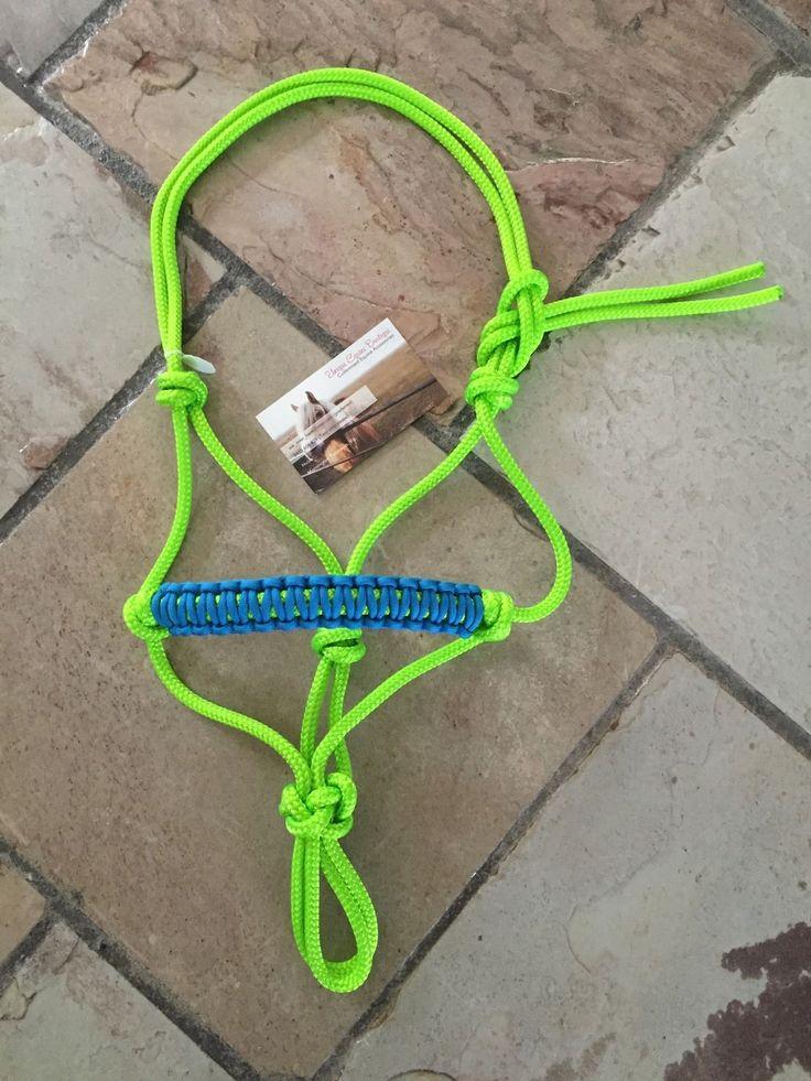BNWT Mini Pony Size Rope Halter Lime Green Blue Horse Gear Tack | eBay